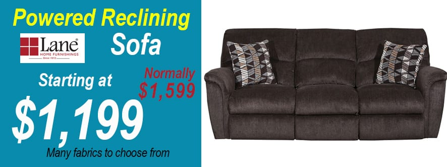 reclining sofa powered, furniture store in Rochester NY, furniture on sale,